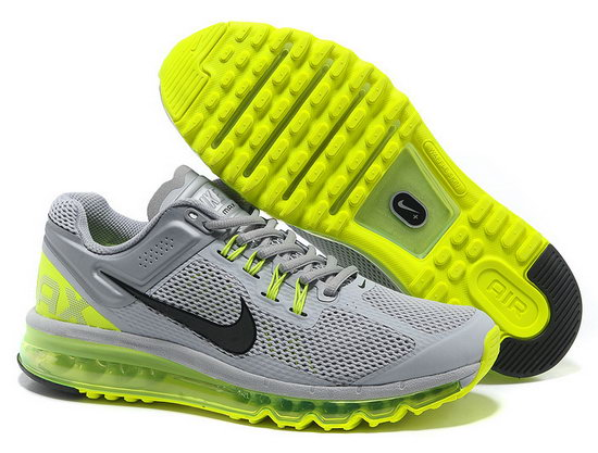 Mens Nike Air Max 2013 Grey Green Netherlands