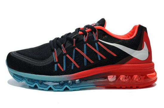 Mens Nike Air Max 2015 Black Blue Fire Red Switzerland