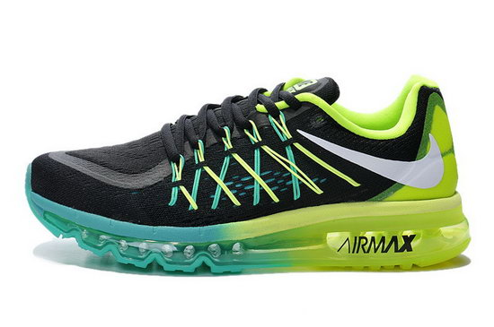 Mens Nike Air Max 2015 Black Blue Green White Sale