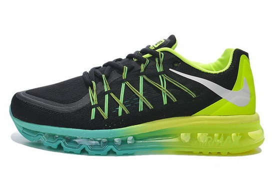 Mens Nike Air Max 2015 Black Blue Green For Sale