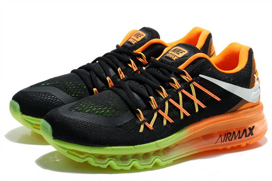 Mens Nike Air Max 2015 Black Orange Green Portugal