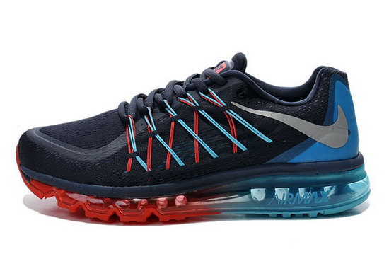 Mens Nike Air Max 2015 Black Red Blue Outlet Store