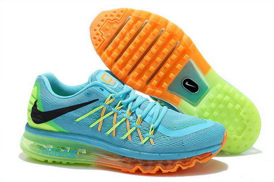 Mens Nike Air Max 2015 Blue Orange Green Black Usa
