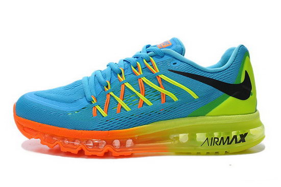 Mens Nike Air Max 2015 Blue Orange Yellow Green Promo Code