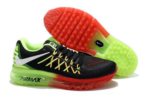 Mens Nike Air Max 2015 Green Black Red Clearance