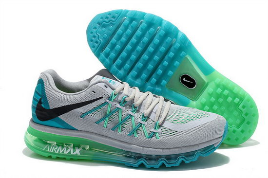 Mens Nike Air Max 2015 Grey Blue Green Black Netherlands
