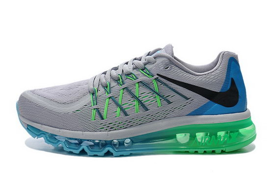 Mens Nike Air Max 2015 Grey Blue Green Low Cost