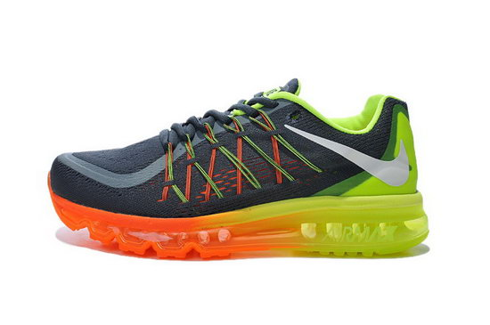 Mens Nike Air Max 2015 Orange Green Grey Cheap