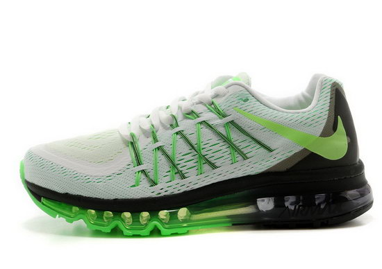 Mens Nike Air Max 2015 White Green Black Outlet