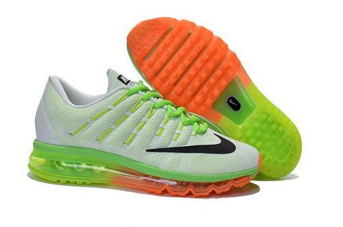 Mens Nike Air Max 2016 Green Orange White Black Spain