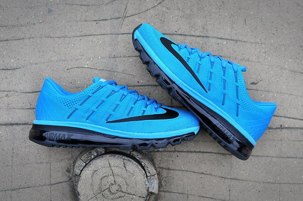 Mens Nike Air Max 2016 Shoe Black Blue Portugal