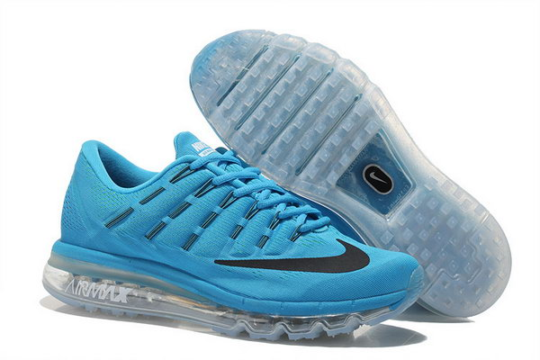 Mens Nike Air Max 2016 Shoes Black Blue Outlet Store