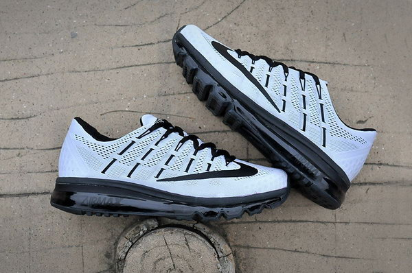 Mens Nike Air Max 2016 Shoes Black Grey Japan