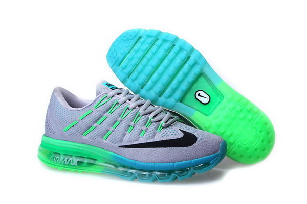 Mens Nike Air Max 2016 Shoes Green Grey Czech