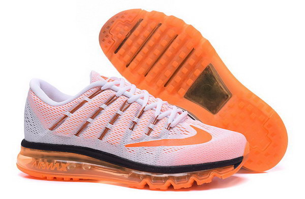 Mens Nike Air Max 2016 Shoes Orange White Low Cost