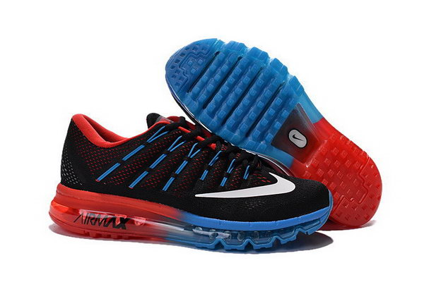 Mens Nike Air Max 2016 Shoes Red Blue Black Discount Code