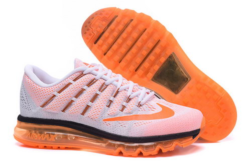 Mens Nike Air Max 2016 White Orange Black Sweden