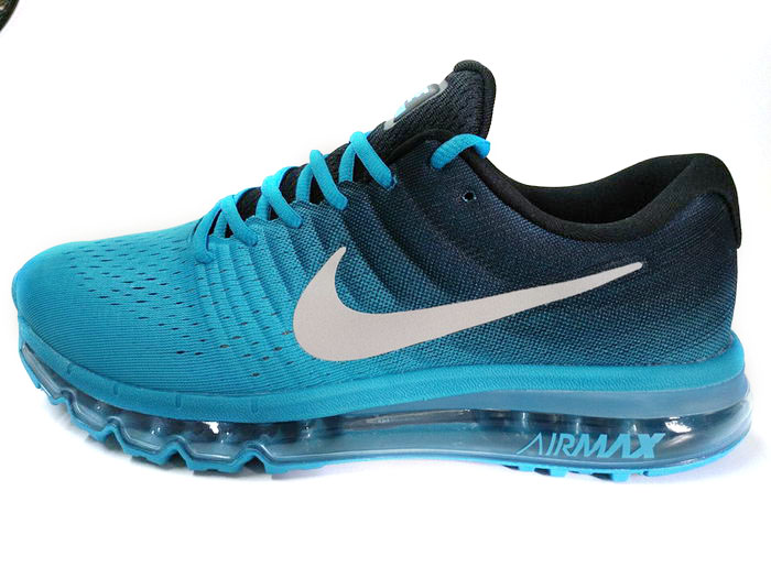 Mens Nike Air Max 2017 Blue Black White Outlet Store