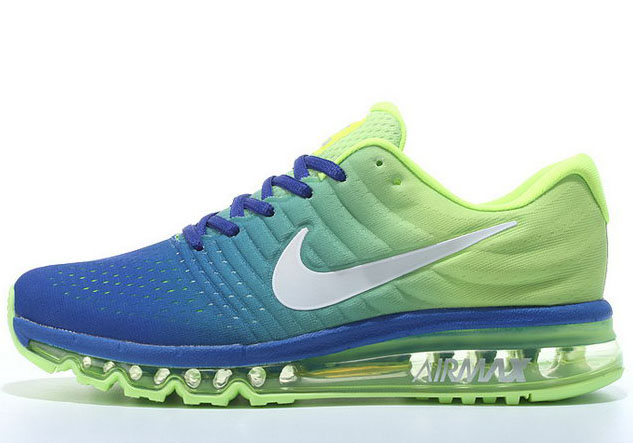 Mens Nike Air Max 2017 Blue Fluorescent Green Promo Code