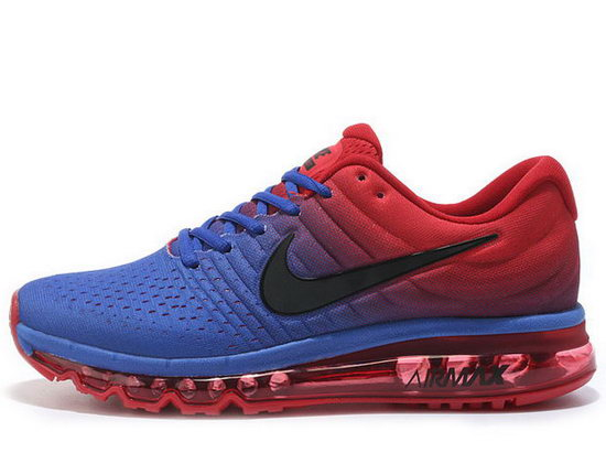 Mens Nike Air Max 2017 Blue Red Black Clearance