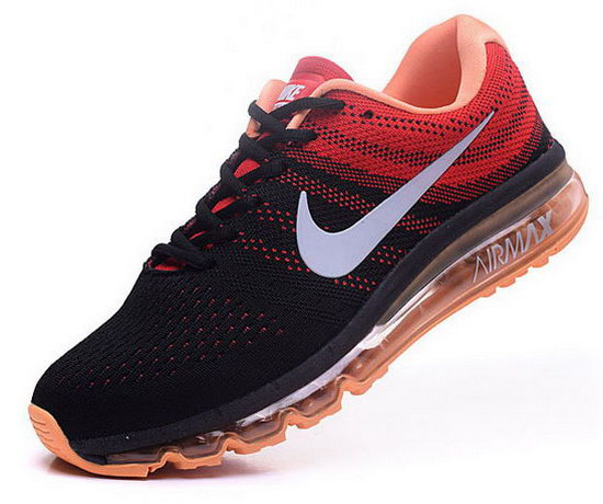Mens Nike Air Max 2017 Flyknit Black Orange Discount