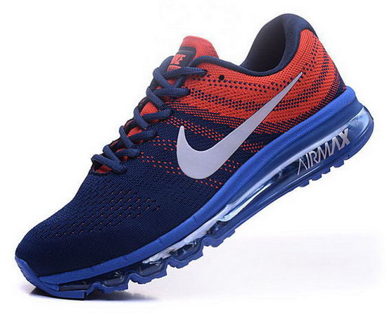 Mens Nike Air Max 2017 Flyknit Blue Orange