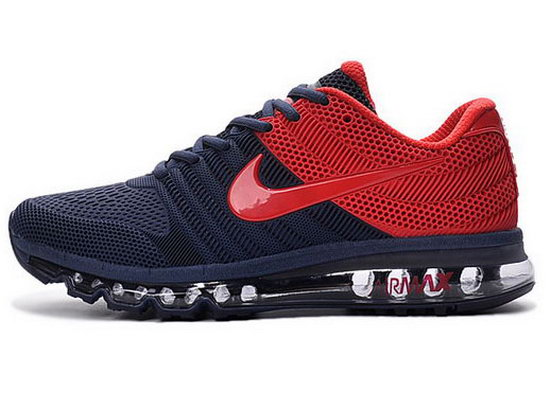 Mens Nike Air Max 2017 Kpu Dark Blue Red Reduced