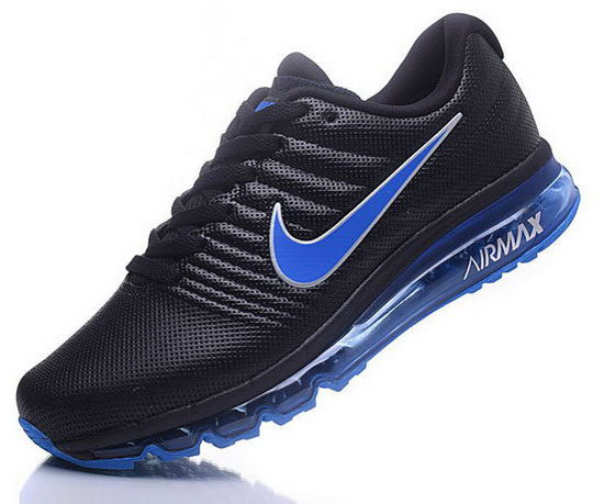 Mens Nike Air Max 2017 Leather Black Blue Italy