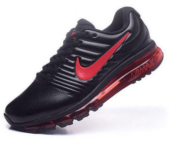 Mens Nike Air Max 2017 Leather Black Red 2 Sweden