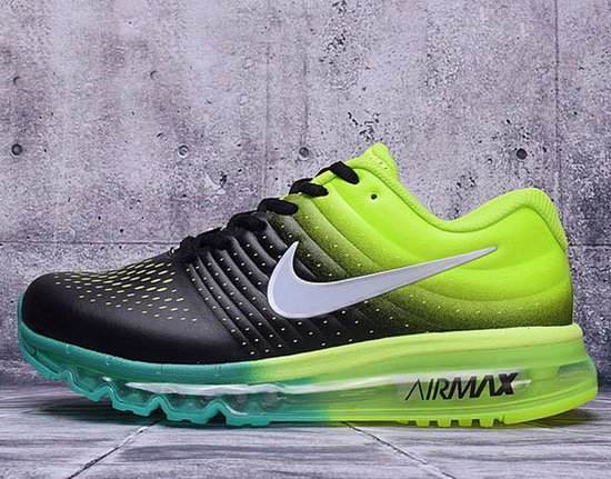 Mens Nike Air Max 2017 Leather Green Black Wholesale