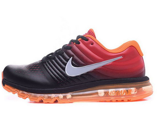 Mens Nike Air Max 2017 Leather Orange Black Switzerland