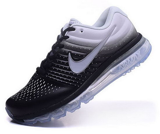 Mens Nike Air Max 2017 Leather White Black Sale