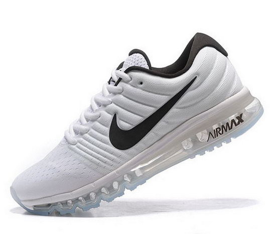 Mens Nike Air Max 2017 White Black Low Cost