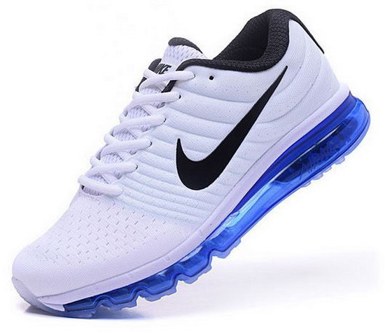Mens Nike Air Max 2017 White Blue Cheap