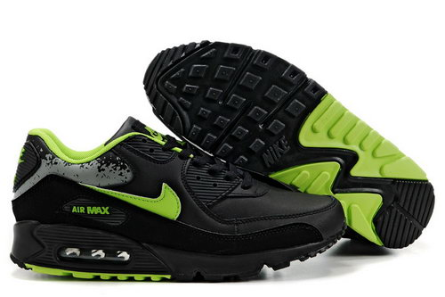 Mens Nike Air Max 90 Green Black Reduced