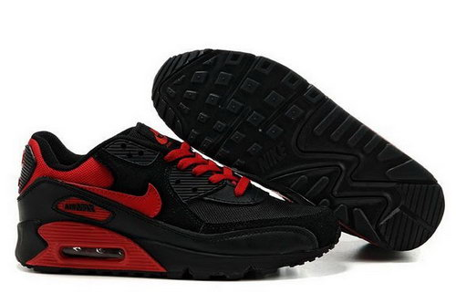 Mens Nike Air Max 90 Red Black Online