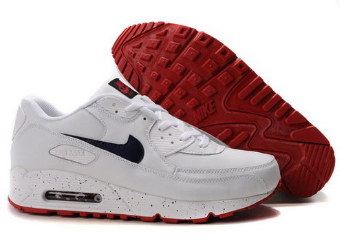 Mens Nike Air Max 90 White Red Norway