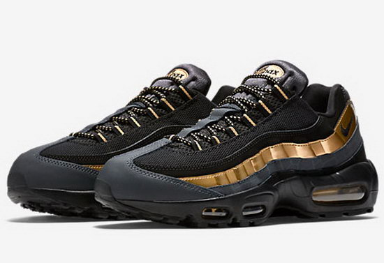Mens Nike Air Max 95 Black Gold 40-47 Discount