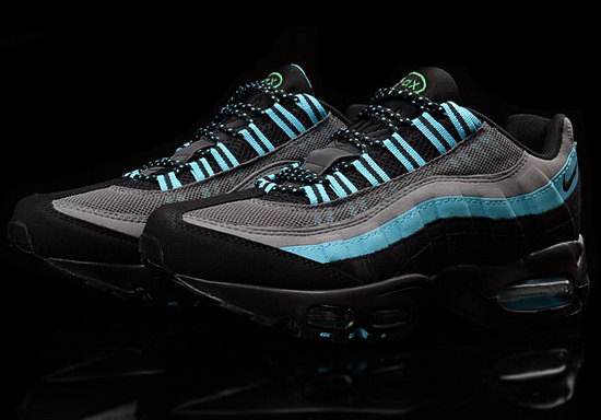 Mens Nike Air Max 95 Black Grey Jade 40-45 Denmark
