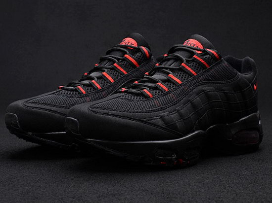 Mens Nike Air Max 95 Black Red 40-45