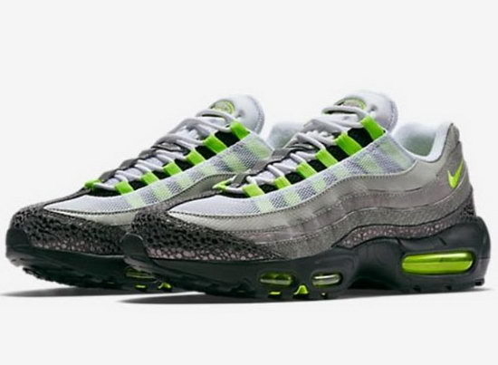 Mens Nike Air Max 95 Green Grey Black 40-47 Outlet Online