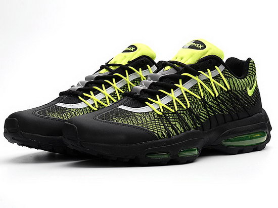 Mens Nike Air Max 95 Ultra Fluorescent Green Black Reduced