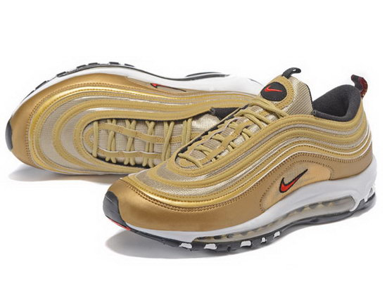 Mens Nike Air Max 97 Gold Red Sale