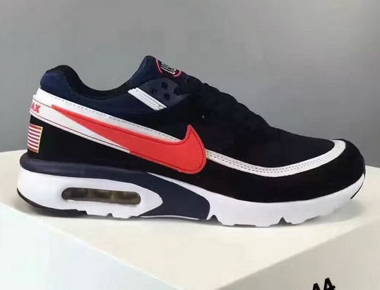 Mens Nike Air Max Bw Dark Blue Black Red Uk