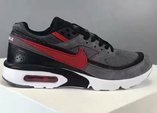 Mens Nike Air Max Bw Grey Back Red Coupon Code