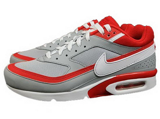 Mens Nike Air Max Bw Grey Red Australia