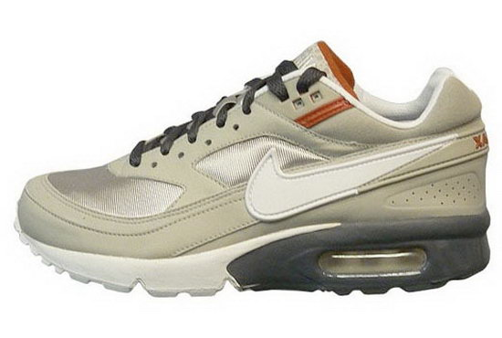 Mens Nike Air Max Bw Grey Silver White Clearance