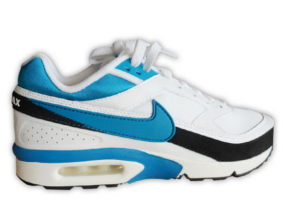 Mens Nike Air Max Bw White Blue Black Closeout