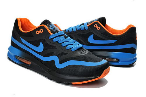 Mens Nike Air Max Lunar 1 Black Blue Orange Switzerland