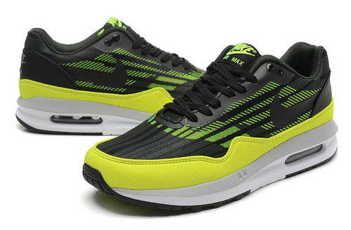 Mens Nike Air Max Lunar 1 Black Green Online Store